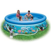 Бассейн Easy Set Pool Морской пейзаж, INTEX